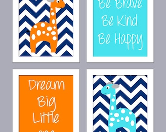 Baby Room Art - Giraffe Nursery Art - Nursery Decor - Nursery Wall Decor
