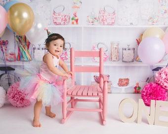 Rainbow Unicorn Baby Girl 1st Birthday Outfit   Baby Tutu   Tutu Dress   Birthday Dress   Baby Girls Cake Smash Outfits   Birthday Tutu