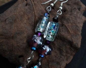 Berry Cobbler - Beaded Dangle Earring Set