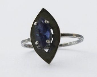 Iolite Marquis Ring