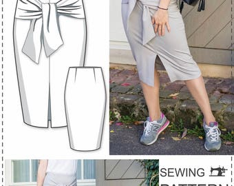 Pencil Skirt Pattern - Skirt Sewing Patterns - Simple Skirt Pattern - High Waisted Skirt Pattern - Pencil Skirt Tutorial - Fashion Patterns