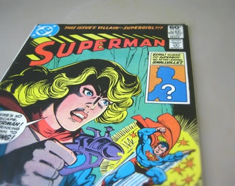 Vintage DC Comics Superman Comic Book, 1981 Issue #365, Featuring Supergirl, 80s Superman Collectible, Superhero Gift For Men, Man of Steel