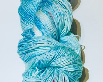 "Free Shipping! ""Wish"" Ready to ship hand dyed. Southern Sock yarn base. Superwash Merino wool and nylon.430 yds."