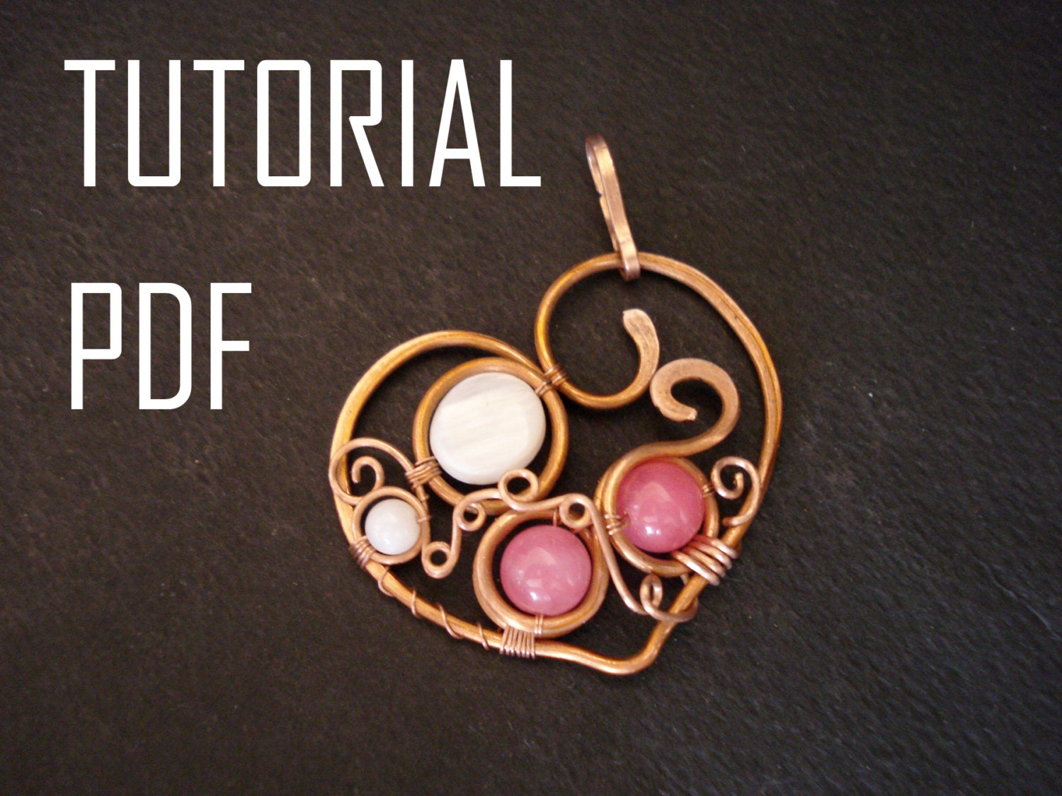 Heart pendant tutorial wire wrap jewelry lessons pdf jewelry this is a digital file aloadofball Image collections