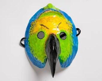 Vogel-Papier-Maske