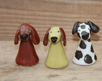Ceramic Dog Figurine, Quirky spotty dog, Love Dogs, Collectable Dog Sculptures, Handmade Ceramic Dogs, Little Brown Dog, Unique Handbuilt,