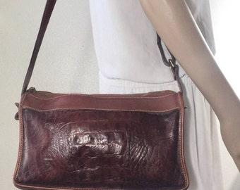 Brahmin Brown Leather Purse, brown leather,Shoulder Bag, Bag