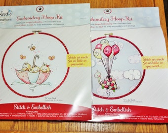UNOPENED Needle Creations Embroidery Hoop Kits Designed By Rachelle Anne Miller