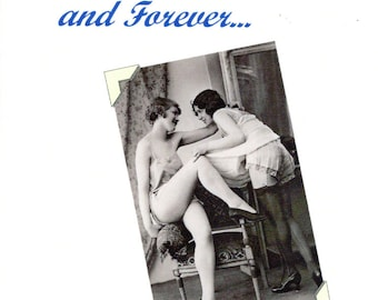 Lesbian Wedding Card - Adoration - Intimate Note Card Greeting Card