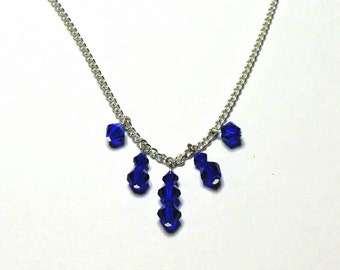 Royal Blue Glass Bead Necklace