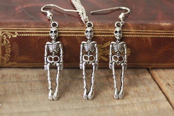 Skeleton Pendant, Halloween Jewelry, Gothic Pendant, Gothic Jewelry, Creepy Cute, Spooky Jewelry, Witchy Jewelry, Strega Fashion by Etsy