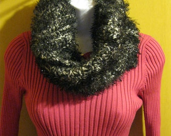 Dramatic Sparkly Black Scarf Christmas Gift Present Teacher Stocking Stuffer Birthday Mothers Day FREE GIFT