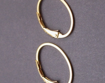 Gold Interchangeable Hoop Earrings, Lever back earrings,  24k Gold Vermeil Hoop Earrings, Gold Leverback Earrings, Charm Earrings
