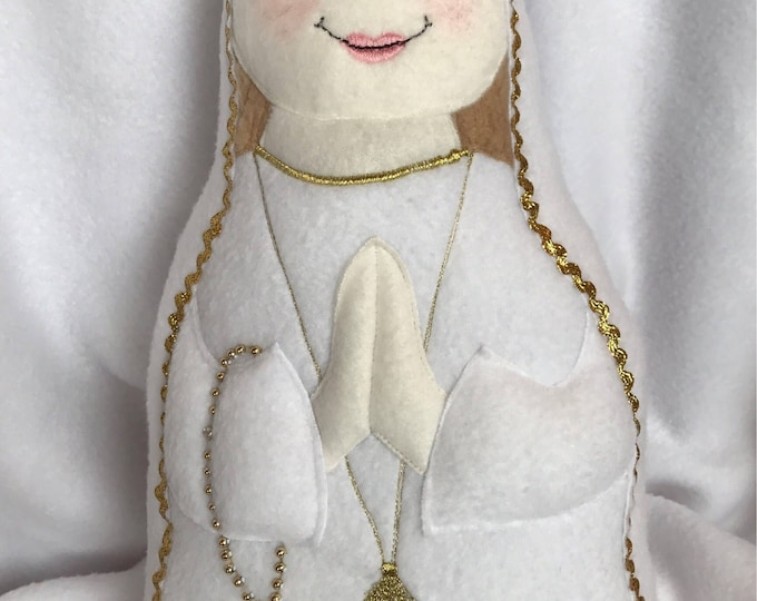 Our Lady of Fatima Doll, 100 year Anniversary of Fatima, Virgin Mary Doll, Our Lady, Our Lady of Fatima Soft Saint Doll Perfect to Snuggle.