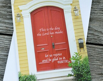 Great Day Notecards - Set of 3 - Inspirational, Photography, Door, Greeting Card, Gift, Birthday, Anniversary