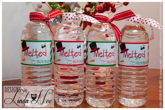 melted snowman water bottle wrappers melting snowman water