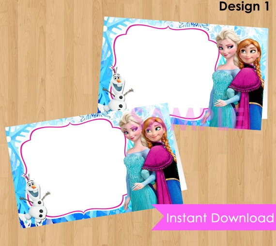 Disney Frozen Food Labels INSTANT DOWNLOAD Disney Frozen Food