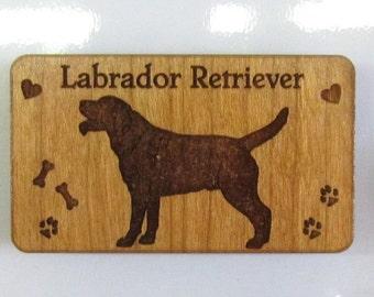 Original Design Labrador Retriever Wood Magnet