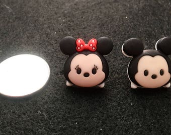 Free Shipping! Micky and Minnie Mouse Tsum Tsum Earrings