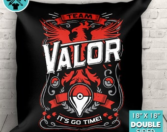 """Team Valor Go Video Game Inspired Couch Pillow Decorative Pillow Throw Pillow 18""""x18"""""""