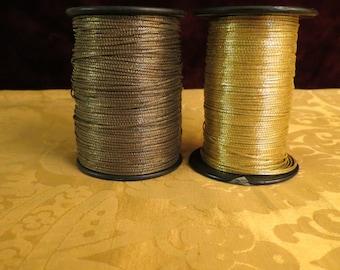 10 Yards Frrench Metallic Gold thread