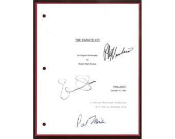 The Karate Kid Movie Script Signed Screenplay Autographed: Ralph Macchio, Pat Morita, Elisabeth Shue