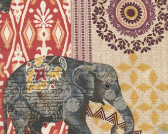 Multi Suzani Elephant Parade by Timeless Treasures Collection Quilt Fabric by the Half Yard