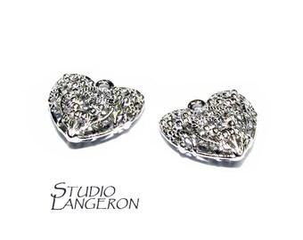 925 Sterling Silver Filigree Heart Pendant, Filigree Heart, pendant silver, Valentine's Day, Silver Heart Pendant, Sterling silver - 1 piece