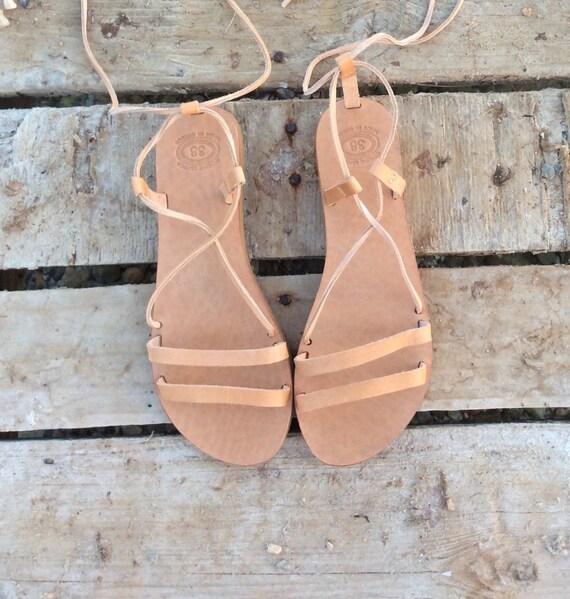 women wedding Leather Greek Women Handmade sandals Gladiator gift sandals up Summer flats Sandals sandals for Tie Sandals HwwUZ8A1q