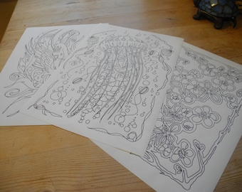 jellyfish colouring page from colour it book 2