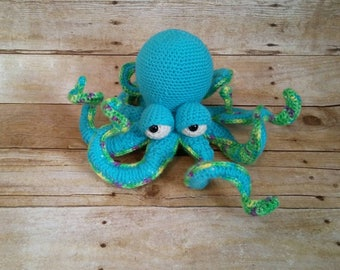 Octopus Stuffed Animal, Giant Octopus, Stuffed Octopus, Aquatic Animal, Sea Animal, Kraken, Octopus Toy, Cephalopod Plushie, Crochet Octopus