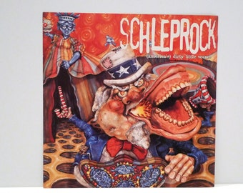 Schleprock Poster 1996 Vintage 1990s America's Dirty Little Secret Record Store Display Flat Los Angeles Punk Rock Band Mohawk Music
