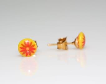 Tiny Flower Earrings - Vintage