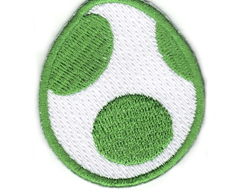 Official Nintendo Super Mario World Yoshi Egg Iron Iron On Embroidered Patch