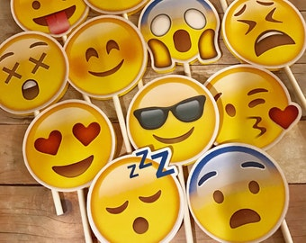 Emoji Inspired Cupcake Toppers
