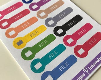 A24 - File - Planner Stickers