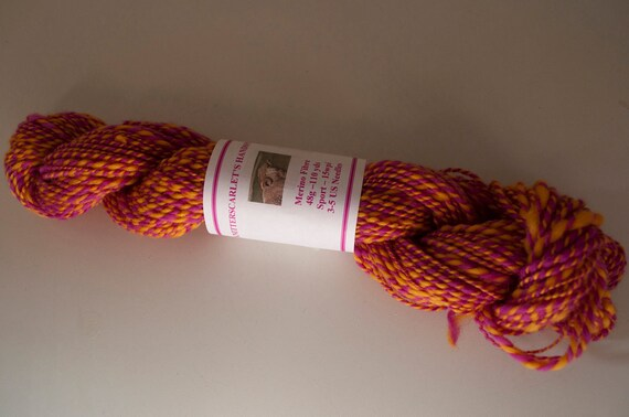 Handspun Hand-dyed Merino Yarn 48g/110yds