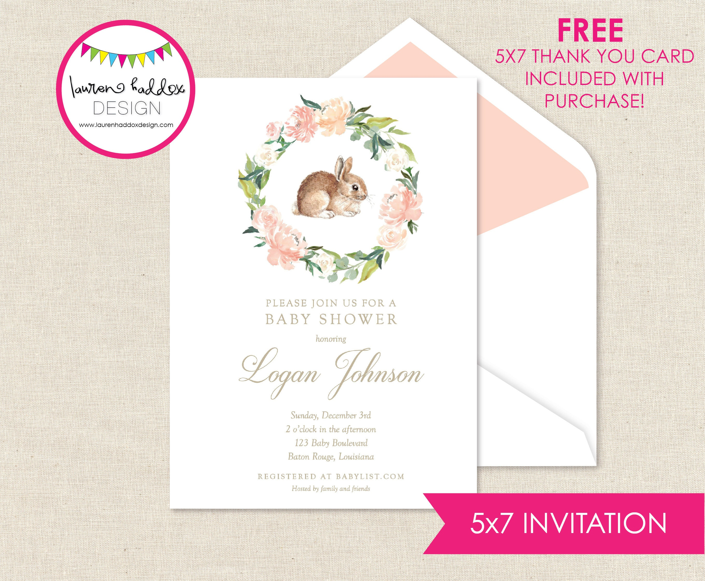 at baby in full well bunny size conjunction mickey announcements as with walmart showers of shower themes invitations mouse