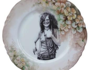 """Janis Joplin Portrait Plate 7.65"""""""