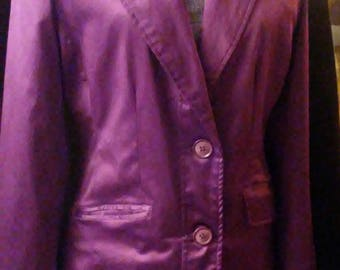 Vintage Purple Satin Jacket