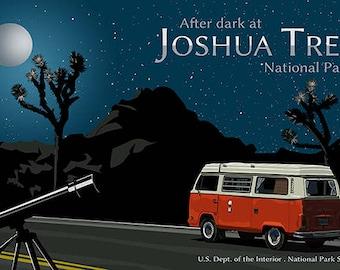 Joshua Tree Poster - Joshua Tree National Park Poster - Joshua Tree at Night - California Desert Poster