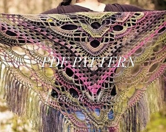 PDF Pattern: Knotted Magic Shawl- All season shawl
