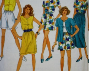 Simplicity 7888 Sewing Pattern, Blouses, Pull On Shorts, Skirt, Sewing Pattern