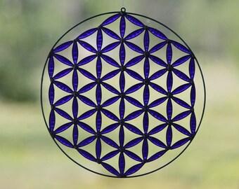 flower of life mandala boho decor sacred geometry yoga meditation