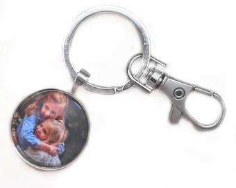 Custom Photo Gift Keychain Bag Charm Personalized Keychain Custom Photo Personalized Photo Keychain Custom Keychain Picture Keychain