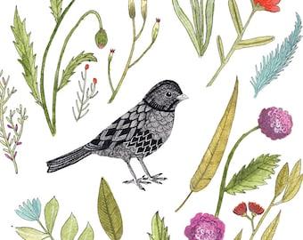 Garden Art Print 8x10