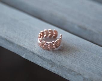 Rose Gold Ring, Boho Rose Gold Ring, Adjustable Boho Ring, Boho Stacking Ring, Rose Gold Thumb Ring, Rose Gold Hippy Ring, Gift for Her