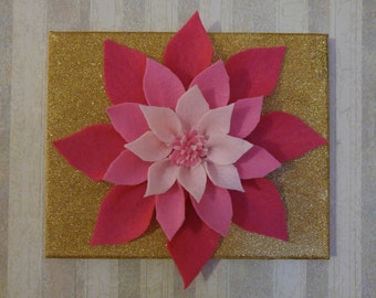 Felt Dahlia Sparkle Canvas