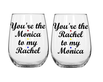 "Set of ""You're the Monica to my Rachel"" and ""You're the Rachel to my Monica"" - FRIENDS"