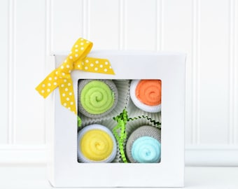Pregnancy Gift Ideas, Neutral Newborn Gift Set, Baby Gift Set Cupcakes, Maternity Leave Gift, Baby Gifts under 25, Unique Layette Gift